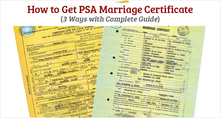 how to get psa marriage certificate